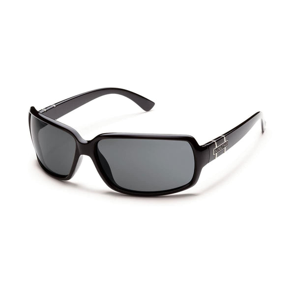 POPTOWN BLACK FRAME WITH GRAY POLARIZED POLYCARBONATE LENS Eyewear/Accessories Suncloud - Hook 1 Outfitters/Kayak Fishing Gear