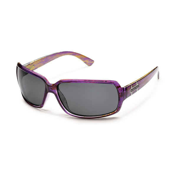 POPTOWN PURPLE BACKPAINT FRAME WITH GRAY POLARIZED POLYCARBONATE LENS Eyewear/Accessories Suncloud - Hook 1 Outfitters/Kayak Fishing Gear