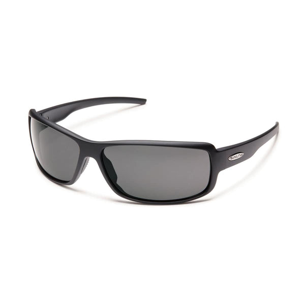 RICOCHET MATTE BLACK FRAME WITH GRAY POLARIZED POLYCARBONATE LENS Eyewear/Accessories Suncloud - Hook 1 Outfitters/Kayak Fishing Gear