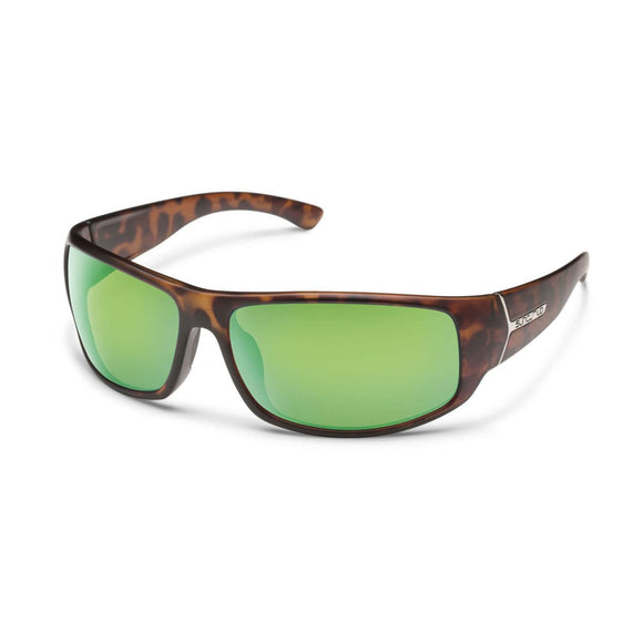 TURBINE MATTE TORTOISE FRAME WITH GREEN MIRROR POLARIZED POLYCARBONATE LENS Eyewear/Accessories Suncloud - Hook 1 Outfitters/Kayak Fishing Gear