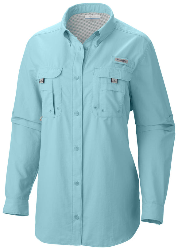 WOMEN'S PFG BAHAMA™ LONG SLEEVE - CLOSEOUT Clear Blue - CLOSEOUT / S Tops Columbia - Hook 1 Outfitters/Kayak Fishing Gear