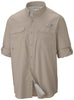 MEN'S PFG BLOOD AND GUTS™ III LONG SLEEVE WOVEN SHIRT Fossil / L Tops Columbia - Hook 1 Outfitters/Kayak Fishing Gear