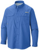 MEN'S PFG BLOOD AND GUTS™ III LONG SLEEVE WOVEN SHIRT Vivid Blue / M Tops Columbia - Hook 1 Outfitters/Kayak Fishing Gear