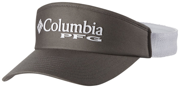 PFG MESH VISOR TITANIUM FISH FLAG  Hats Columbia - Hook 1 Outfitters/Kayak Fishing Gear