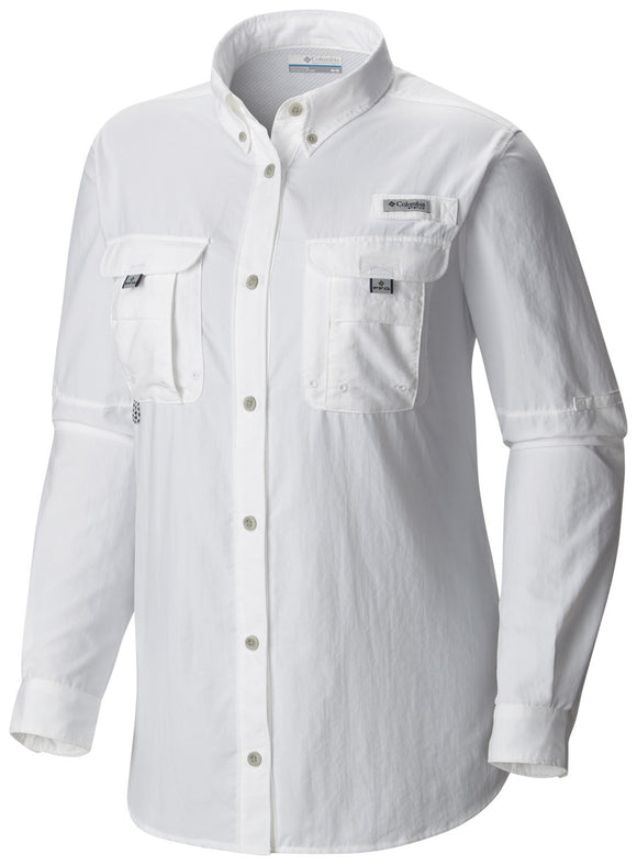 WOMEN'S PFG BAHAMA™ LONG SLEEVE White / S Tops Columbia - Hook 1 Outfitters/Kayak Fishing Gear