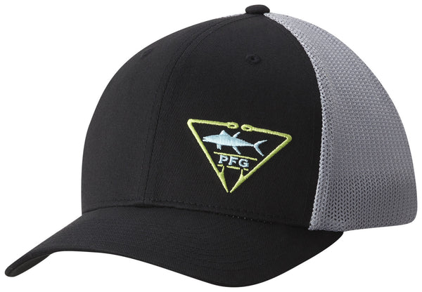 PFG MESH™ BALL CAP BLACK / PFG TRIANGLE  Hats Columbia - Hook 1 Outfitters/Kayak Fishing Gear