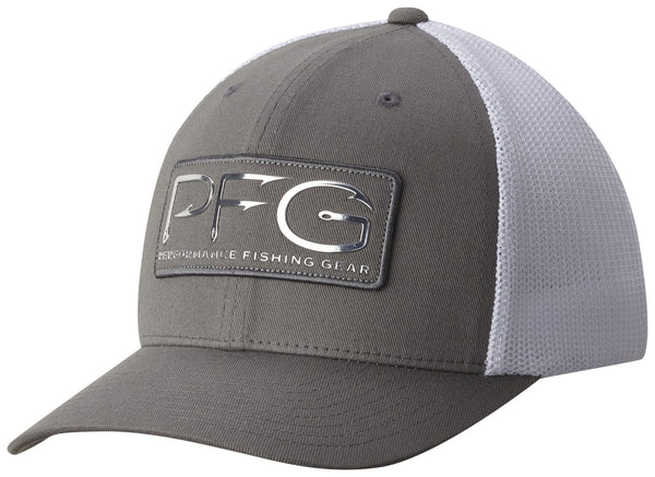 PFG MESH™ BALL CAP TITANIUM / PFG HOOK PATCH  Hats Columbia - Hook 1 Outfitters/Kayak Fishing Gear
