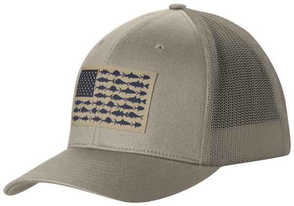 PFG MESH™ BALL CAP TUSK / FISH FLAG  Hats Columbia - Hook 1 Outfitters/Kayak Fishing Gear
