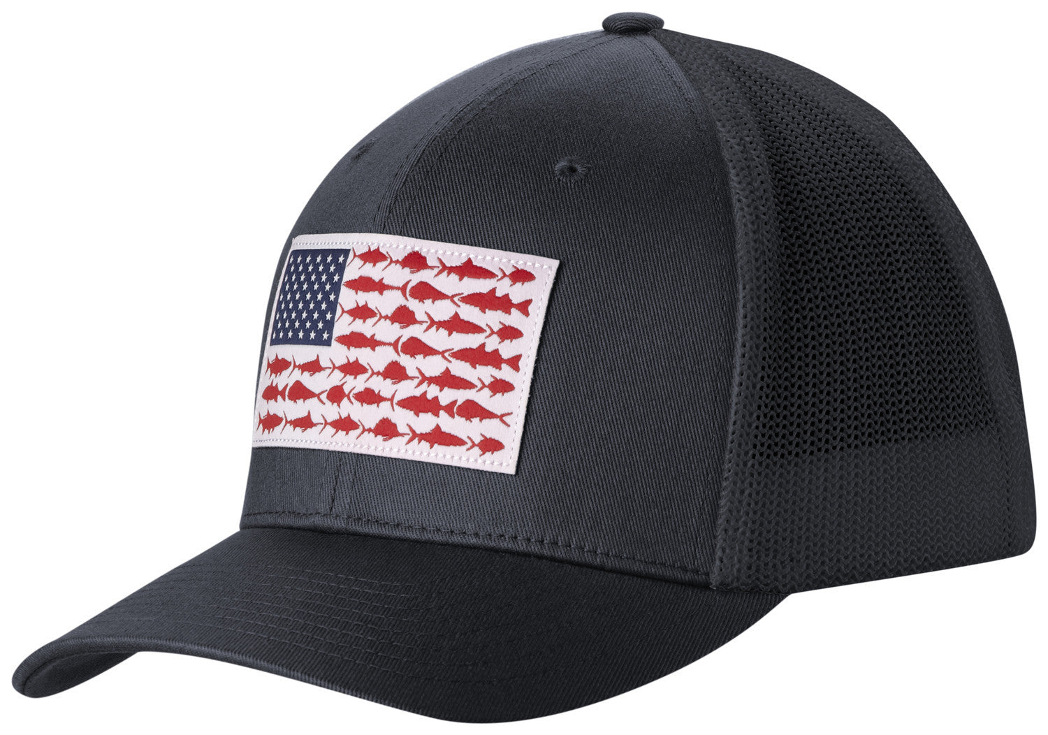 adcde22594f40 PFG MESH™ BALL CAP COLLEGIATE NAVY   FISH FLAG Hats Columbia - Hook 1  Outfitters