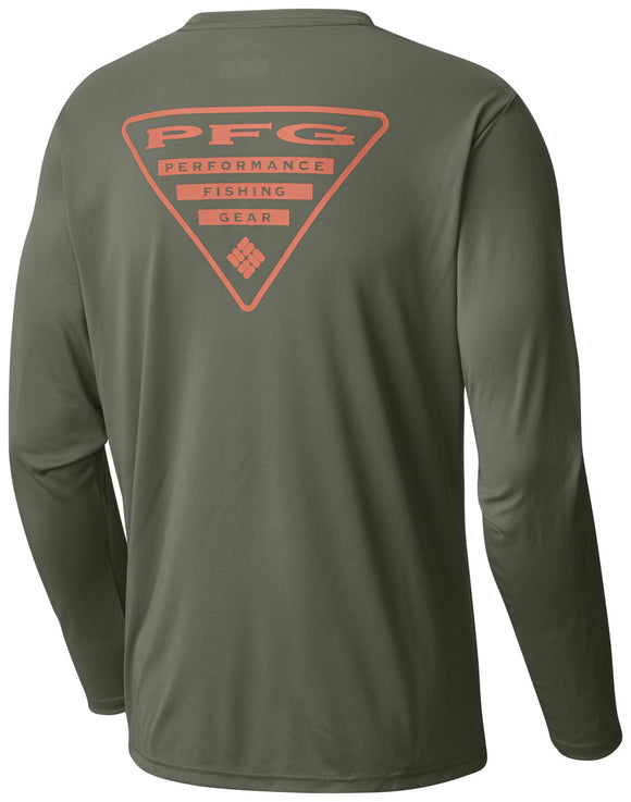 MEN'S TERMINAL TACKLE PFG TRIANGLE™ LONG SLEEVE SHIRT - CLOSEOUT Cypress / M Tops Columbia - Hook 1 Outfitters/Kayak Fishing Gear