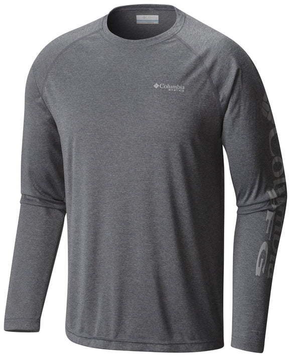 Terminal Tackle™ Heather LS Shirt Charcoal Heather / M Tops Columbia - Hook 1 Outfitters/Kayak Fishing Gear