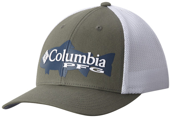 PFG MESH SNAP BACK™ BALL CAP CYPRESS / TROUT  Hats Columbia - Hook 1 Outfitters/Kayak Fishing Gear