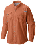 Men's Bahama™ II Long Sleeve Shirt - CLOSEOUT Island Orange / S Tops Columbia - Hook 1 Outfitters/Kayak Fishing Gear