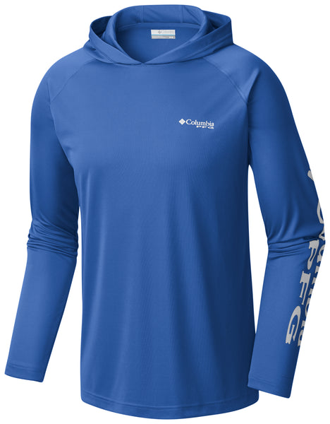 Terminal Tackle Hoodie Vivid Blue/Cool Grey Logo / L Tops Columbia - Hook 1 Outfitters/Kayak Fishing Gear