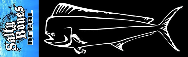 Salty Bones Plotted Fish Decal  Novelty - Fishing Salty Bones - Hook 1 Outfitters/Kayak Fishing Gear