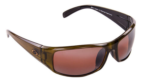 Strike King Polorized Sunglass - S11 Amber/Clr Gold Met-Blk 2 T