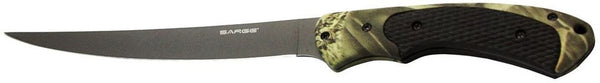 Sarge Fixed Blade Knife - Camo Fillet Knife  Cutlery/Tools Sarge Knives - Hook 1 Outfitters/Kayak Fishing Gear
