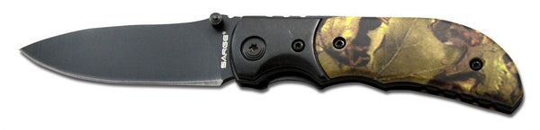 Sarge Folding Knife Lockback - Camo Tactical Folder  Cutlery/Tools Sarge Knives - Hook 1 Outfitters/Kayak Fishing Gear