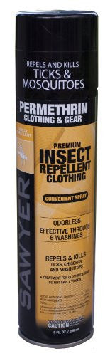 Sawyer Permethrin Repellent - 9Oz Aerosol Spray  Camping Sawyer - Hook 1 Outfitters/Kayak Fishing Gear