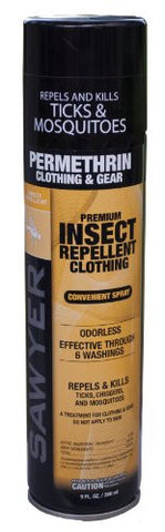 Sawyer Permethrin Repellent - 9Oz Aerosol Spray