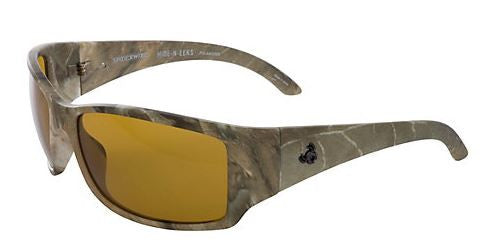 Spiderwire Polorized Sunglasse - Hide N Eek Mat Camo/Amber  Eyewear/Accessories Spiderwire - Hook 1 Outfitters/Kayak Fishing Gear