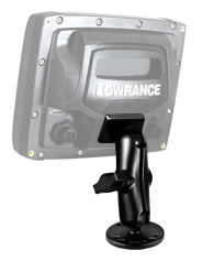 "RAM 1"" Ball Marine Electronic ""LIGHT USE"" Mount for the Lowrance Elite 4 and Elite-5 Series  Depthfinder and Electronics Mounts YakAttack - Hook 1 Outfitters/Kayak Fishing Gear"