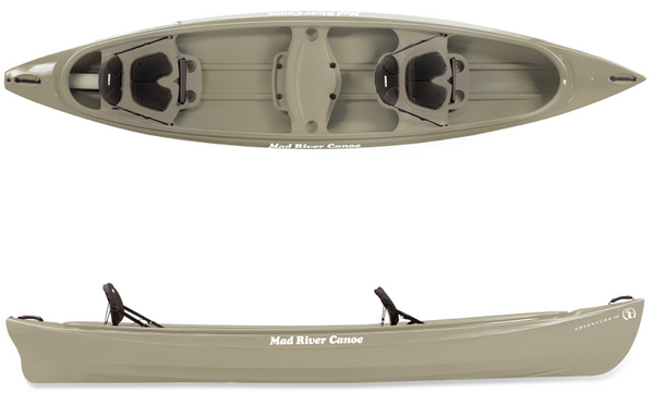 2014 Blemished Adventure 16  Canoes Mad River Canoe - Hook 1 Outfitters/Kayak Fishing Gear