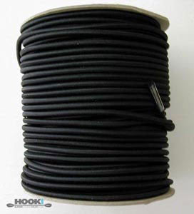 "Bungee / Shock Cord 1/4"" Black  Bungee/Deck Line/Webbing Other - Hook 1 Outfitters/Kayak Fishing Gear"