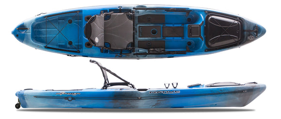 Slayer 12 PRO - CLOSEOUT BLUE LAGOON Kayaks Native Watercraft - Hook 1 Outfitters/Kayak Fishing Gear