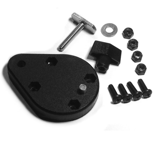 YakAttack HD Ball Mounting Plate with Hardware  Track Systems YakAttack - Hook 1 Outfitters/Kayak Fishing Gear