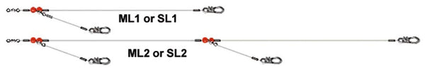 Taitex Beaded Leaders - 1 Drop Mono 60# 36/Ring  Leaders/Accessories Taitex Fishing - Hook 1 Outfitters/Kayak Fishing Gear