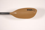 TYBEE: HOOKED 240cm / 2pc Straight / BROWN Paddle Werner Paddles - Hook 1 Outfitters/Kayak Fishing Gear