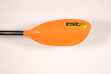 TYBEE: HOOKED 240cm / 2pc Straight / ORANGE Paddle Werner Paddles - Hook 1 Outfitters/Kayak Fishing Gear