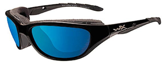 Wiley X Polarized Sunglasses - Airrage Blue Mirror Grn/Gl Blk  Eyewear/Accessories Wiley X - Hook 1 Outfitters/Kayak Fishing Gear