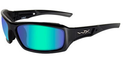 Wiley X Polarized Sunglasses - Echo Emerald Mir/Gloss Blk  Eyewear/Accessories Wiley X - Hook 1 Outfitters/Kayak Fishing Gear