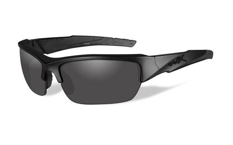 Wiley X Polarized Sunglasses - Valor Black Ops Grey/Matte Blk
