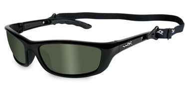 Wiley X Polarized Sunglasses - P-17 Smoke Grn/Gloss Black