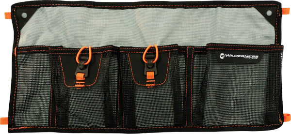 Mesh Storage Sleeve - 4 Pocket  Kayak Accessories Wilderness Systems - Hook 1 Outfitters/Kayak Fishing Gear