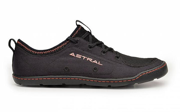 Astral Women's Loyak Water Shoe BLACK/BLACK / W6 Footwear Astral - Hook 1 Outfitters/Kayak Fishing Gear