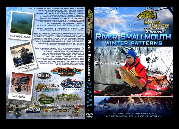 River Smallmouth Winter Patterns - Jeff Little  Magazines - Books - DVDs Blue Ridge Kayak Fishing - Hook 1 Outfitters/Kayak Fishing Gear