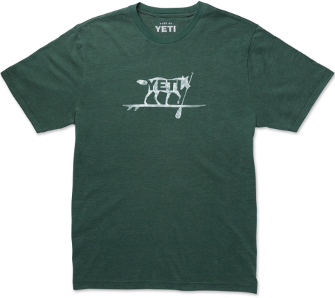 Paddle On MW Tri Short Sleeve Teal Heather  Apparel Yeti - Hook 1 Outfitters/Kayak Fishing Gear
