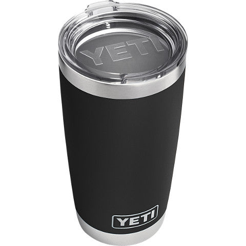 20 Oz Rambler Black  Cooler Yeti - Hook 1 Outfitters/Kayak Fishing Gear