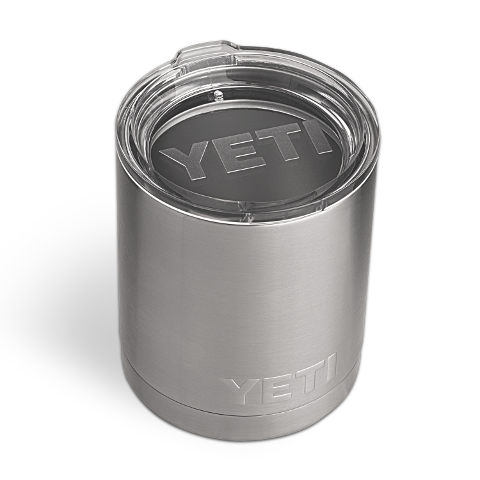 Lowball 10oz Stainless Steel Rambler  Cooler Yeti - Hook 1 Outfitters/Kayak Fishing Gear