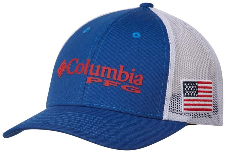 fcac11bcfaf PFG MESH™ BALL CAP MOUNTAIN BLUE   USA FLAG Hats Columbia - Hook 1  Outfitters