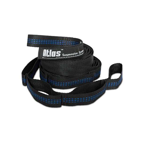 Atlas Suspension Straps Black/Blue HAMMOCK ENO - Hook 1 Outfitters/Kayak Fishing Gear