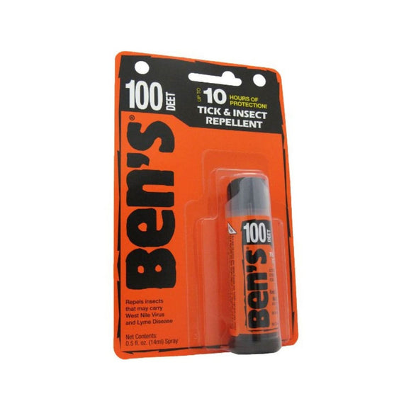 Ben's® 100 Mini Spray, 0.5 oz  Insect Repellent Ben's - Hook 1 Outfitters/Kayak Fishing Gear