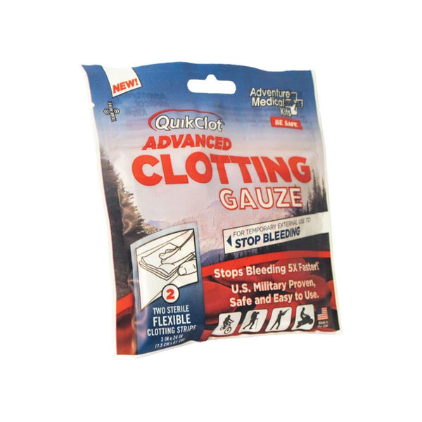 "QuikClot Advanced Clotting Gauze 3"" x 24"" (2)  First Aid Adventure Medical Kit - Hook 1 Outfitters/Kayak Fishing Gear"