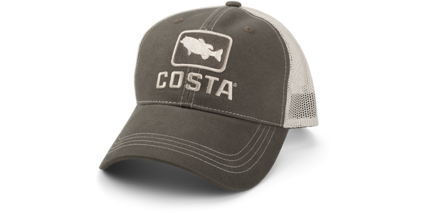 Costa XL Bass Trucker Hat  Hats Costa - Hook 1 Outfitters/Kayak Fishing Gear