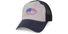 UNITED TRUCKER HAT NAVY/GRAY