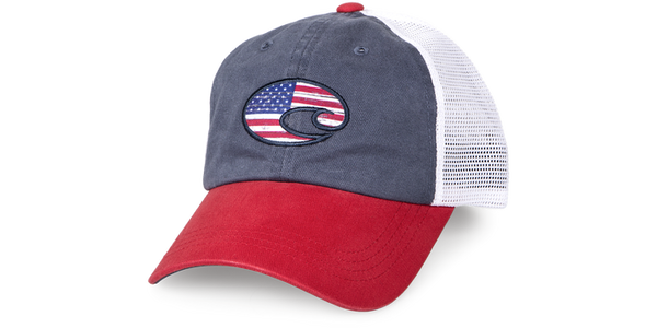 UNITED TRUCKER HAT RED/WHITE/NAVY  Hats Costa - Hook 1 Outfitters/Kayak Fishing Gear